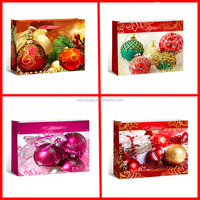 wholesale christmas paper gift bag with christmas balls