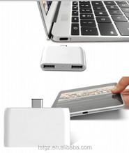 2015 hot sale fashion design different color 4 port USB hub