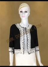 Original design latest black fashion coat for lady lace short woman jacket