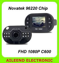 C600 Novatek 96220 Chip 1080p Night vision 140 Degree Lens 4ch hdd vehicle car dvr