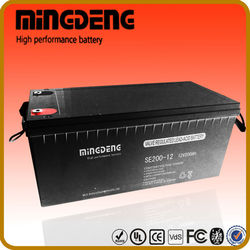 for power storage 200a 12volt 12v deep cycle lead acid gel battery for solar battery