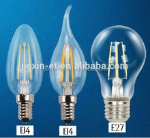 Equal to traditiontal bulb dimmable 4W E27 led filament bulb 220V or 110V for house lighting