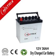 battery manufacturer 12v 36ah dry charge car battery JIS Standard