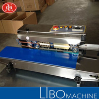 DBF-900 Stainless Steel Plastc Bag Band Sealer / Horizontal Type Continuous Band Sealer