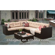 2014 Rattan Furniture Living Room Sofa The Mateus 7 pc Sectional Sofa