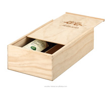 Popular packing wine boxes, pine wood boxes