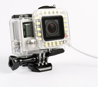 Sport Camera USB Lens Ring LED Flash Light /Lighting Night Shooting For GoPro Hero 3+ 4