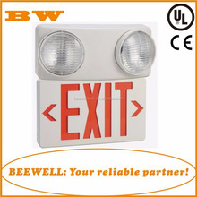 UL listed Red/ Green solar emergency light LED with exit sign for fire escape