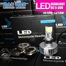 New Products on China Market moto auto light, car h3 led headlight bulbs, 3-Light led headlight 1800lm BAOBAO Lighting