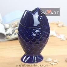 Graceful Fish Bowl Vases Porcelain Fish Figurine for Nautical Decoration