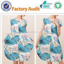 High quality Organic Cotton woven fabric with GOTS Certified for women's clothing