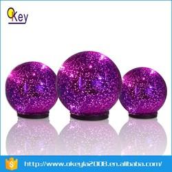 Indoor mecury lamp shade led purple glass ball hanging