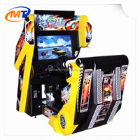 3D car driving Simulator Machine 32 LCD speed outrun simulator arcade racing car lottery game machine for game center