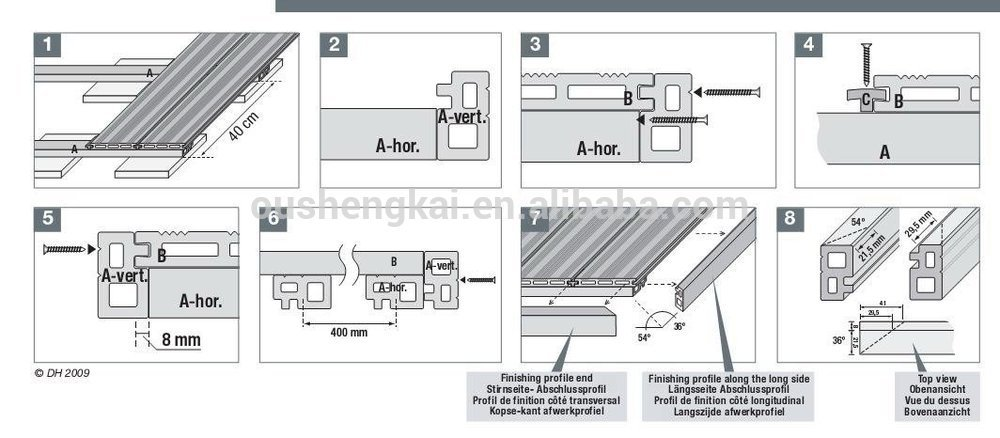 140385 Wood Plastic Compositerecyclablesolid Wpc Decking Floor