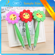 Funny Cartoon Flower Cute Korea Stationery Sunflower Style Silicone Ballpoint Pen