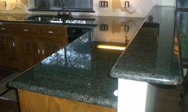 Natural ubatuba granito verde encimera encimeras y tapas for Barra de granito precio