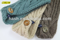 Trendy crochet headband with button closure