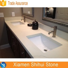 Starlight Grey Quartz Prefab Bathroom Basin Table Top Sink Countertop