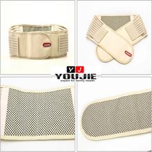 Spontaneous heating lumbar support back brace belt