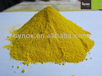Synthetic iron oxide pigment yellow 5313 for construction