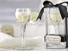 """""""Let's Celebrate!"""" Champagne Flute Gel Candle"""