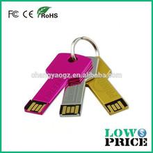 2015 Free logo metal key 3.0 USB Stick/bulk sale usb flash drive with full capacity