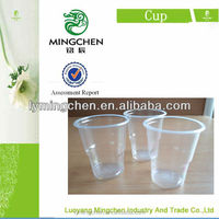 hot summer drinking water disposable pp transparent plastic cup