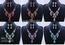 Venta al por mayor - la manera del encanto del collar de los pendientes de Bohemia aleación de acrílico de la joyería Rhinestone