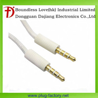 Straight 3.5mm DIY Male To Male Audio Braided Cable Adapter