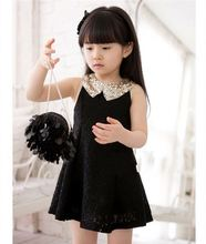A157 Alibaba hot fashion sleeveless latest children lace dress designs