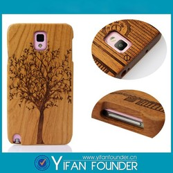 Latest Design Natural Engraved 2 in 1 Wood Mobile Phone shell
