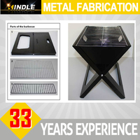 japanese rectangular commercial charcoal bbq grill