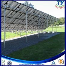 ground solar panel racks for solar energy plant