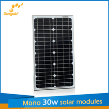 sunpower 30w solar panel price from sungold manufacturers