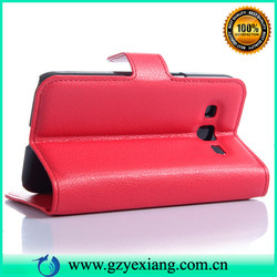 card slot flip leather case for samsung galaxy core prime, many colors