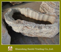 hand carved stone garden birdbath