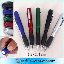 Promotional logo printed led light pen laser pointer pen