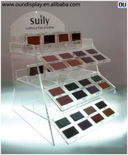 supermarket cosmetic department eyeshadow display stand retail