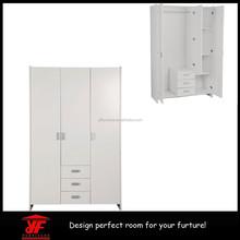 Ikea Cheap Bedroom Designs Wood White 3 Door Wall Wardrobe