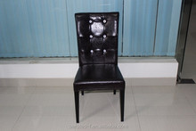 wholesale high back hotel dining chair with PU lether of restaurant dining chair