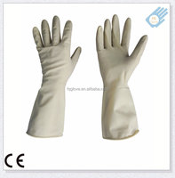 Long Cuff Latex Material Unflock Household Rubber Hand Gloves