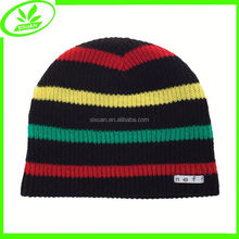 Ski popular knitted caps colorful winter stripe hat