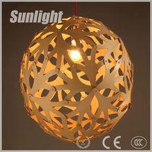 modern creative ball shape& Artistic Hollow out wooden pendant lamp/lighting