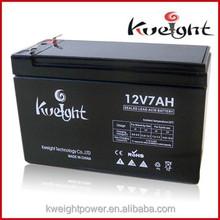 High quality sealed lead acid battery 12v 7ah battery C/E, ISO9001 agm battery for solar and ups 12v 7ah 12ah 17ah