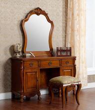 2015 del grado superior de diseño de lujo aparador de madera maciza, espejo del tocador y silla cómoda