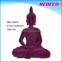 Resin flocking thai buddha statue for home decoration
