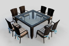 Outdoor dining set/rattan dining able and chair/wicker dining sets