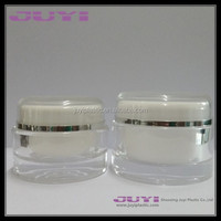 transparent acrylic cosmetic jar; screw cap hot stamping surface handing plastic cosmetic face cream jar packaging