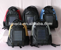 2014 Newest design and fashionable Solar backpack, Solar charging backpack