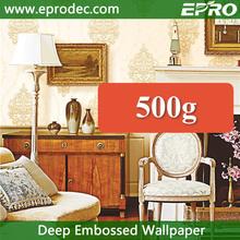Classic designer non woven deep embossed decor wallpaper